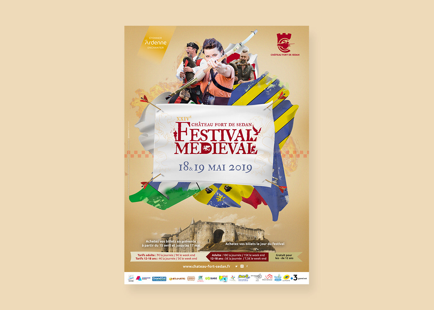 Festival médiéval Sedan affiche