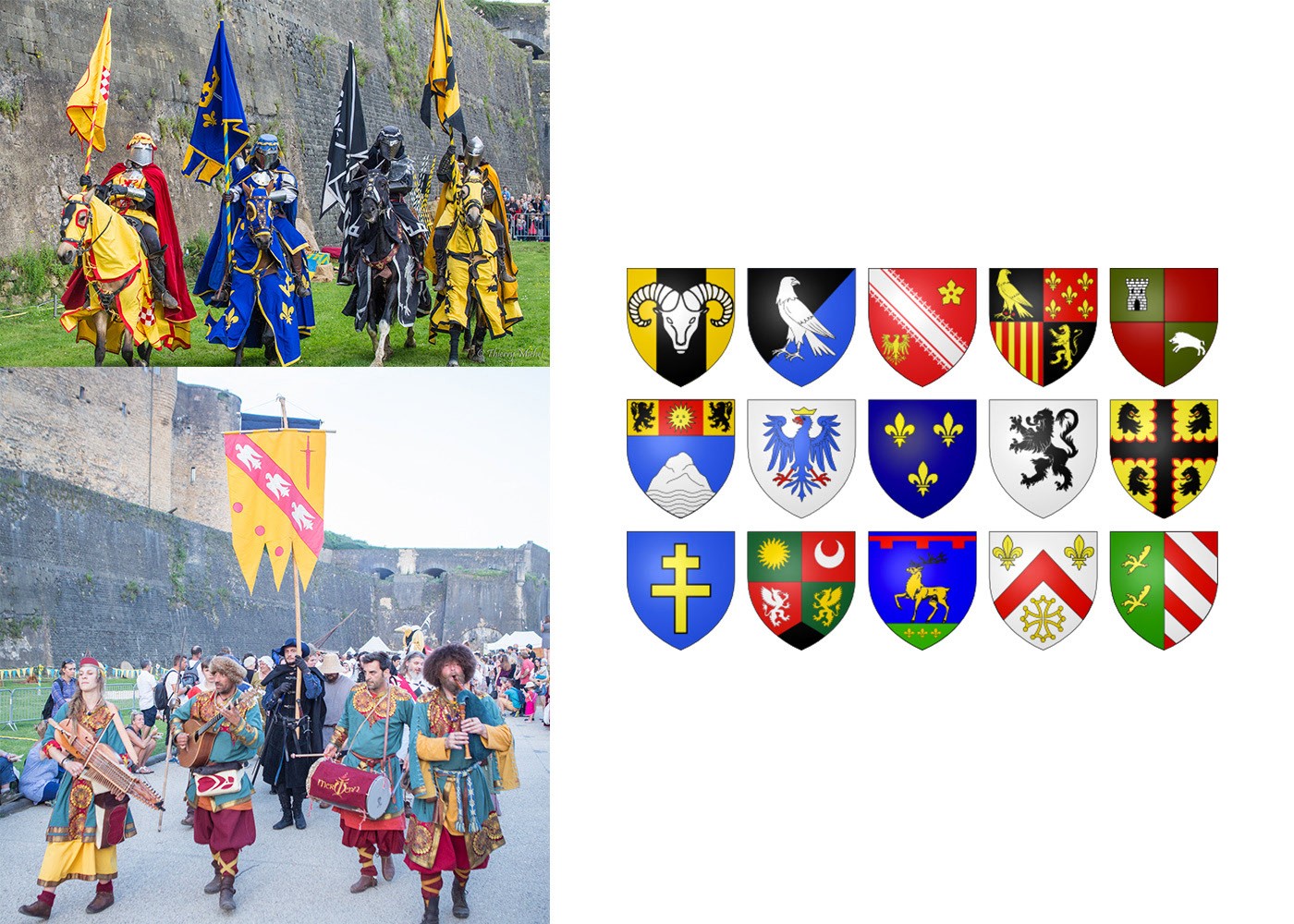 Festival médiéval Sedan blasons