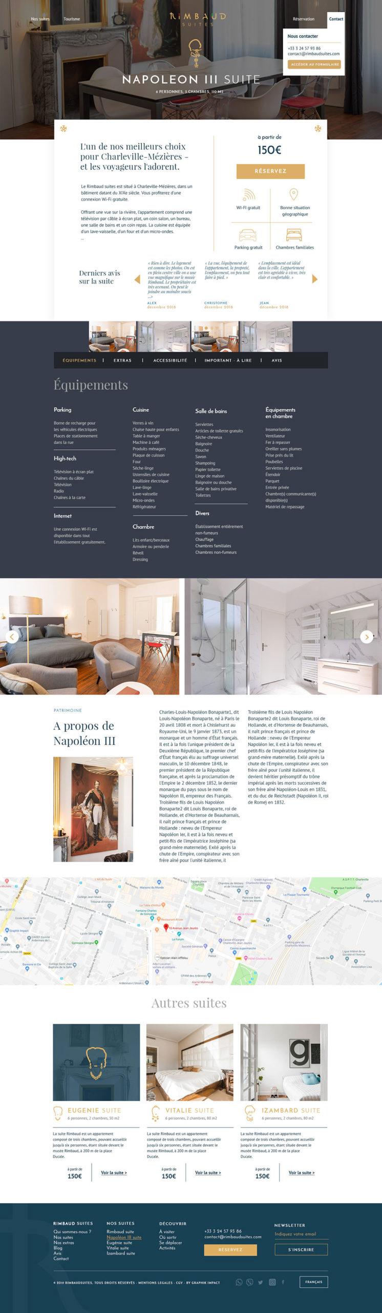 Webdesign site web Rimbaud Suites